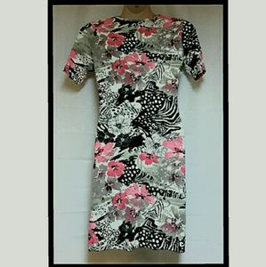 Steilmann Dresses - Women's Stretch Faux Wrap Style Dress Size 10
